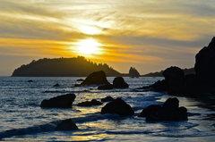 Rock Climbing Photo: Sunset Luffenholtz Beach