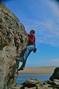 Rock Climbing Photo: Cole @ Moonstone Beach