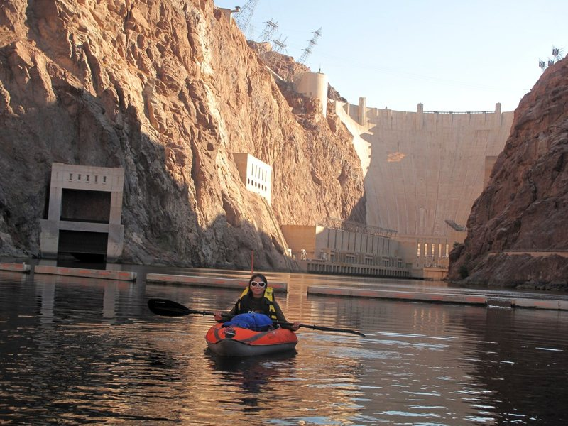 For forum post- Paddling from Hoover Dam to Willow Beach 8/14/2012. Excuse the disheveled look- the shuttle folks rushed us onto the water. :/