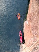 Rock Climbing Photo: For Forum post- My Firefly next to my boyfriend's ...