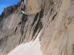 Rock Climbing Photo: North Chimney, Long's Peak.