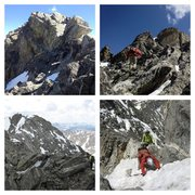 Rock Climbing Photo: South to North Arapahoe traverse