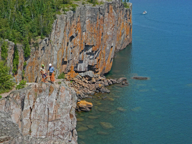 Rock Climbing Photo: My son and I on the North Tower
