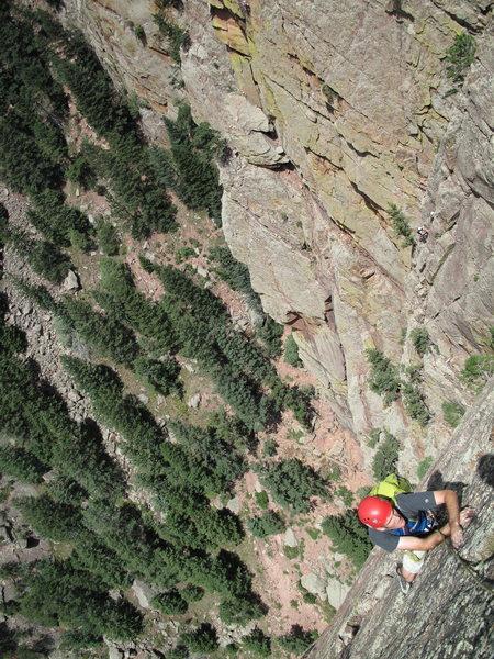Rock Climbing Photo: Brian C. on the runout pitch.