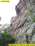 Rock Climbing Photo: TWO PITCH WALL  1)Cambodian Holiday(5.9)trad 2)Ske...