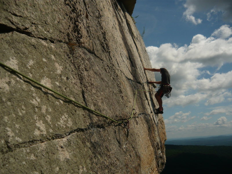 Rock Climbing Photo: Simon Thompson on the classic 3rd pitch of CCK(5.7...