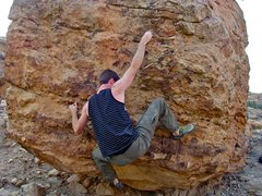 Rock Climbing Photo: Getting crunched.