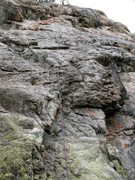 Rock Climbing Photo: Dealer's Choice Right. The groove is visible in th...