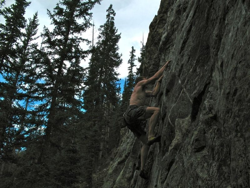 "Rock Climbing Photo: Ben Jordan feeling ""Paranoid""."