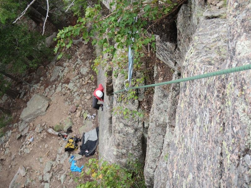 Rock Climbing Photo: Following on Unleash the Lions P1.