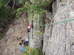 Rock Climbing Photo: Following on Unleash the Lions P1.