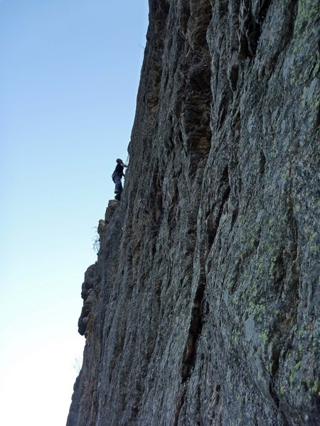 Rock Climbing Photo: Lee on the FFA.