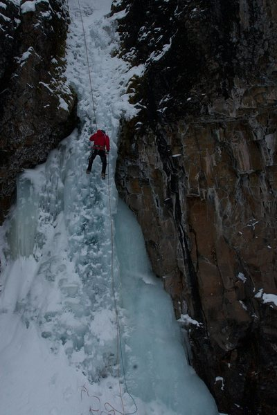 Rock Climbing Photo: On rap