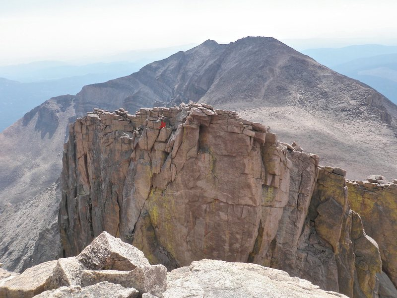 Rock Climbing Photo: Red x marks the location of the rap anchor. One 60...