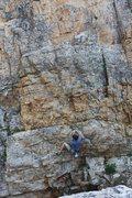 Rock Climbing Photo: Start of Cardinal Sin.
