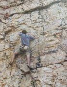 Rock Climbing Photo: Upper end of Cardinal Sin.
