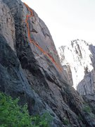 Rock Climbing Photo: Route as seen from the approach.