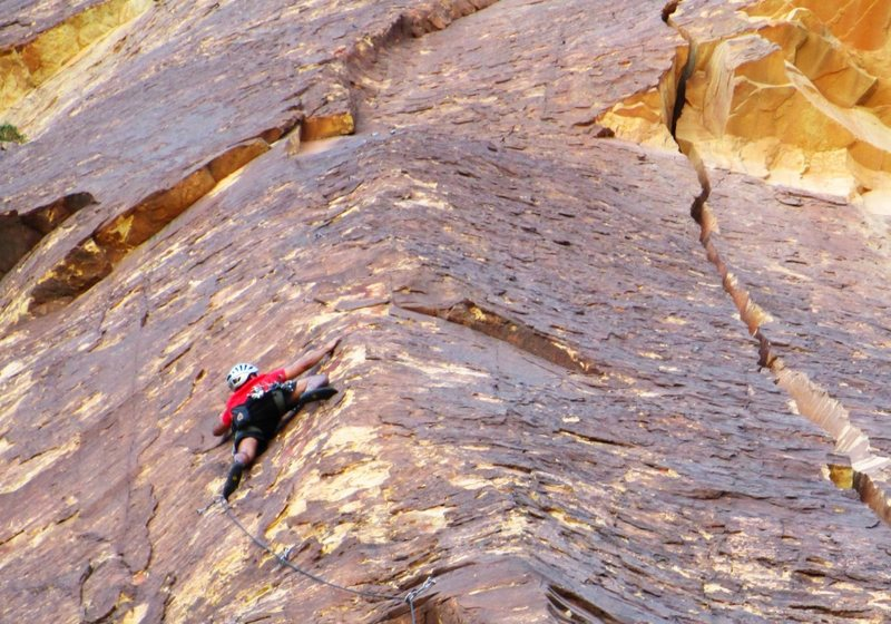 Rock Climbing Photo: Mo on P-2 of Miss Conception.