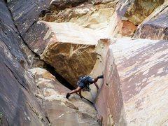 Rock Climbing Photo: Jonny on P-1 of The Misunderstanding. One of my fa...