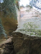 Rock Climbing Photo: If you look close you can see the three angles sti...