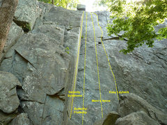 Rock Climbing Photo: Easy Layback is the route on the right
