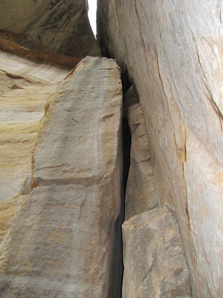 Rock Climbing Photo: Looking up the route (obviously).  First 20 feet n...
