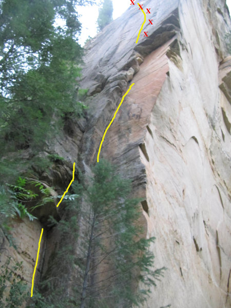 Rock Climbing Photo: Hike upstream from UFC and you will find this rout...