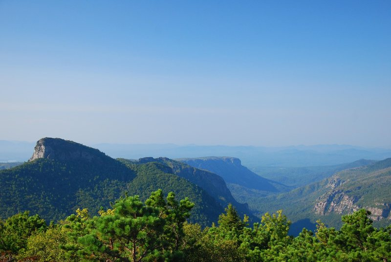 Rock Climbing Photo: Table Rock with The Gorge & Shortoff from Hawksbil...
