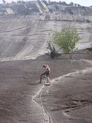 Rock Climbing Photo: On top of pitch 1 of the Exasperator Crack in Squa...
