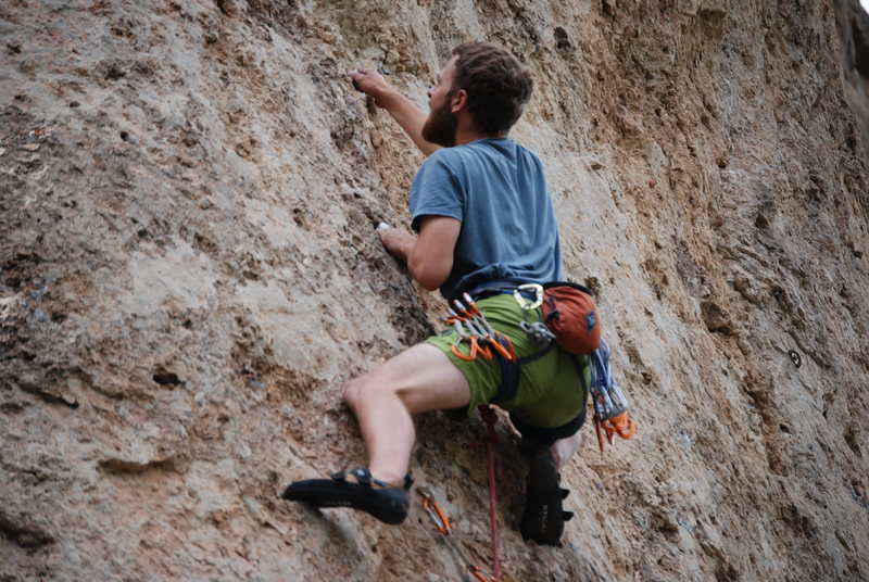 Rock Climbing Photo: B1 Bomber dude in Ten Sleep WY