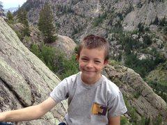 Rock Climbing Photo: Logan Pappas at the second belay.