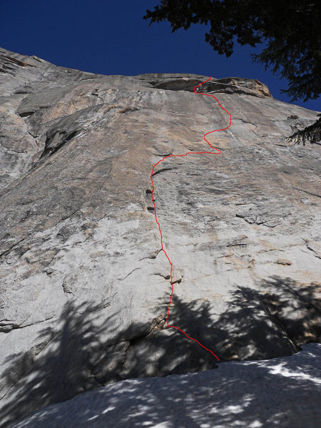 Rosanne (5.9 R/X), Fairview Dome. Crazy hard climb with wicked run-outs and pendulum risk for leader and follower.