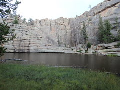 Rock Climbing Photo: This is the shorter side above Gem Lake itself.