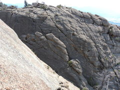 Rock Climbing Photo: Unknown crag just to the south.  The rock is remin...