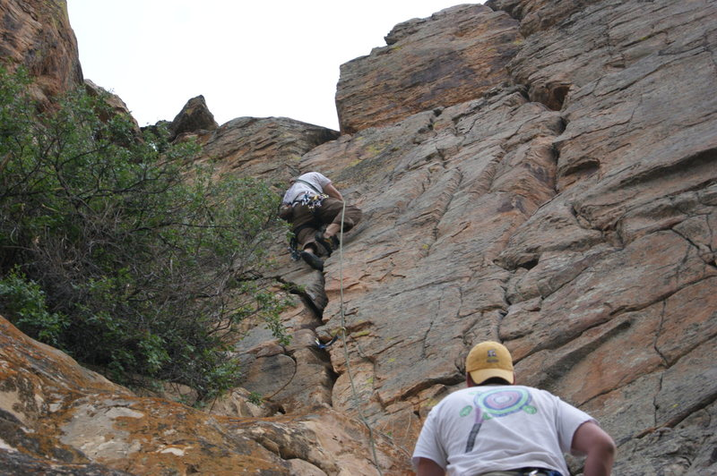 Rock Climbing Photo: Practicing run outs in Wolcott, CO