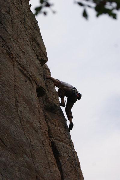 Rock Climbing Photo: Chupacabra 5.9, Lead