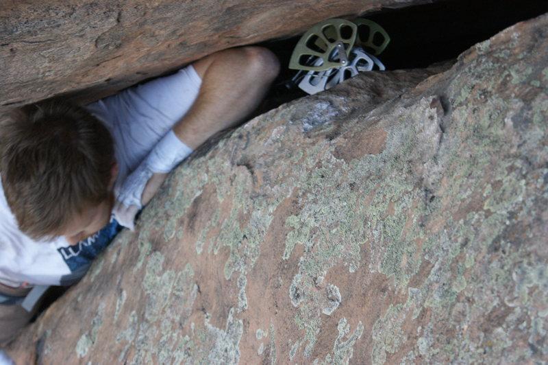 Rock Climbing Photo: 5.9 OW, Wolcott, CO