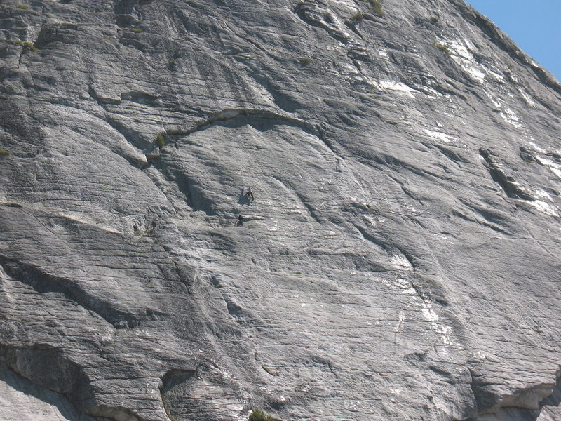 """Rock Climbing Photo: beginning pitch 6.   The 2nd """"Burning Arches&..."""
