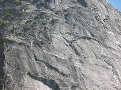 Rock Climbing Photo: pitch 6  awesome gear up the horizontals.  Good st...
