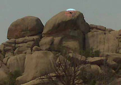 Rock Climbing Photo: New graffiti from the road in, discerned by some a...