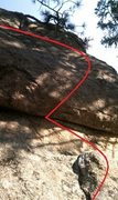 Rock Climbing Photo: More or less the second pitch of the problem...fro...