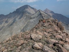 Rock Climbing Photo: The beautiful ridge traverse to the descent!