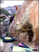 Rock Climbing Photo: Malice of Alice problem on the Breaching Boulder. ...