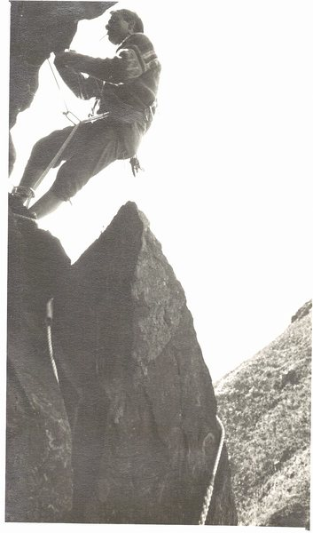 Rock Climbing Photo: FA The Horror.1966