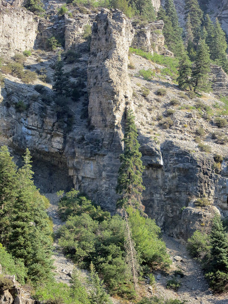 <em>[[105739659]]'s</em> view of the crag.