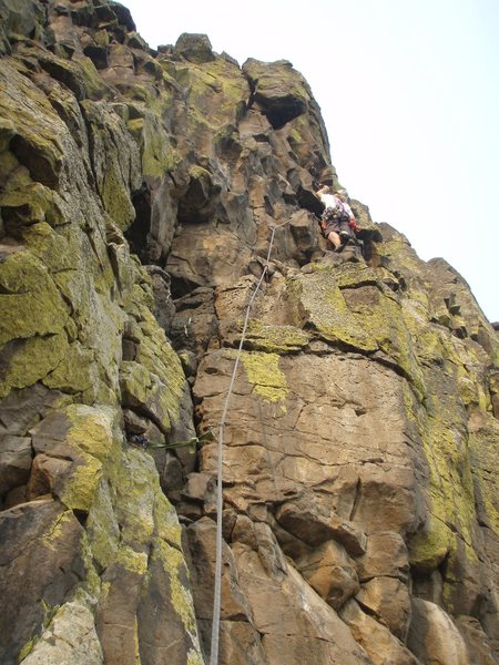 Rock Climbing Photo: No Bolts to Blind You. From here, shoot up and lef...