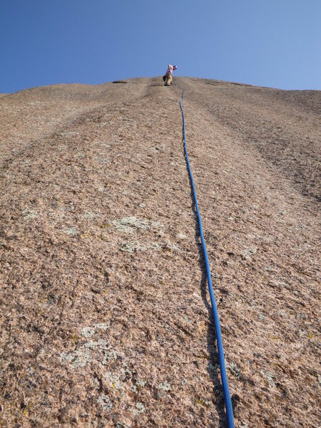 Rock Climbing Photo: This is possibly the second pitch of Time Out. But...
