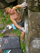 Rock Climbing Photo: Moving through the slopers and understanding the t...