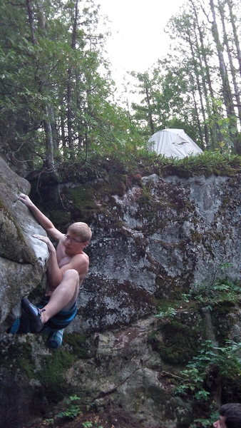 Rock Climbing Photo: About to pull over the lip