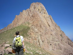 Rock Climbing Photo: Looking longingly......I believe a route has been ...